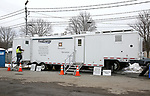 First Energy Mobile Command Center at the Sussex County Fairgrounds JCP&L Staging Site in Augusta, New Jersey
