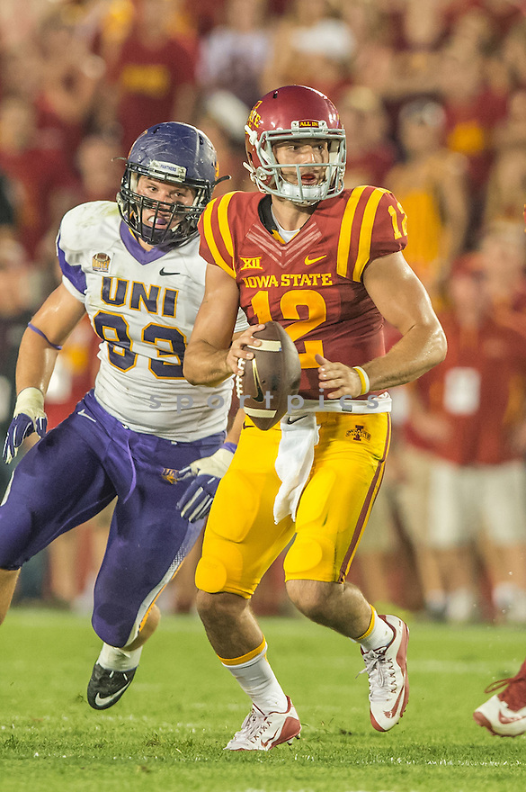 Iowa State Cyclones Sam Richardson (12) during a game against the Northern Iowa Panthers on September 5, 2015 at Jack Trice Stadium in Ames, Iowa. Iowa State beat Northern Iowa 31-7.