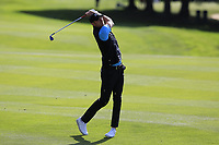 Chris Wood (ENG) plays his 2nd shot on the 17th hole during Thursday's Round 1 of the 2017 Omega European Masters held at Golf Club Crans-Sur-Sierre, Crans Montana, Switzerland. 7th September 2017.<br /> Picture: Eoin Clarke | Golffile<br /> <br /> <br /> All photos usage must carry mandatory copyright credit (&copy; Golffile | Eoin Clarke)