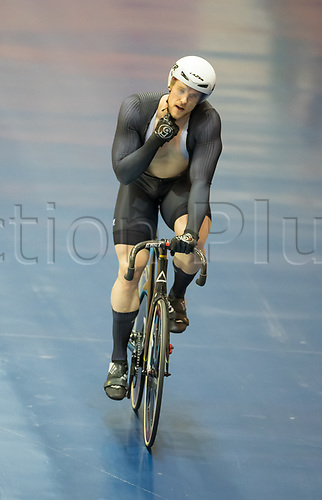 25th January 2020; National Cycling Centre, Manchester, Lancashire, England; HSBC British Cycling Track Championships; Alex Spratt after his sprint race