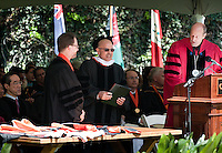 Photo from Occidental College Commencement on Sunday, May 15, 2011, Remsen Bird Hillside Theater. Samantha Power, special assistant to President Barack Obama '83 and senior director for multilateral affairs and human rights for the National Security Council, was the Commencement speaker for class of 2011. (Photo by Marc Campos, Occidental College Photographer)