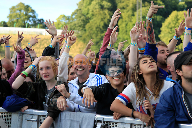 Fans at Slane Concert with Eminem 2013 on Saturday 17th August 2013 <br /> Picture:  Thos Caffrey/ www.newsfile.ie