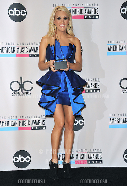 Carrie Underwood at the 40th Anniversary American Music Awards at the Nokia Theatre L.A. Live..November 18, 2012  Los Angeles, CA.Picture: Paul Smith / Featureflash
