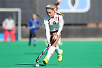 DURHAM, NC - NOVEMBER 11: Miami's Lexie Nugent. The Duke University Blue Devils hosted the Miami University (Ohio) Redhawks on November 11, 2017 at Jack Katz Stadium in Durham, NC in an NCAA Division I Field Hockey Tournament First Round game. Duke won the game 4-2.