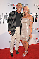 "Christopher Atkins & wife at the premiere of ""The Ugly Truth"" at the Cinerama Dome, Hollywood..July 16, 2009  Los Angeles, CA.Picture: Paul Smith / Featureflash"