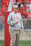 MADISON, WI - SEPTEMBER 9: Defensive coordinator Mike Hankwitz of the Wisconsin Badgers watches his team during warmups prior to the game against the Western Illinois Leathernecks at Camp Randall Stadium on September 9, 2006 in Madison, Wisconsin. The Badgers beat the Leathernecks 34-10. (Photo by David Stluka)