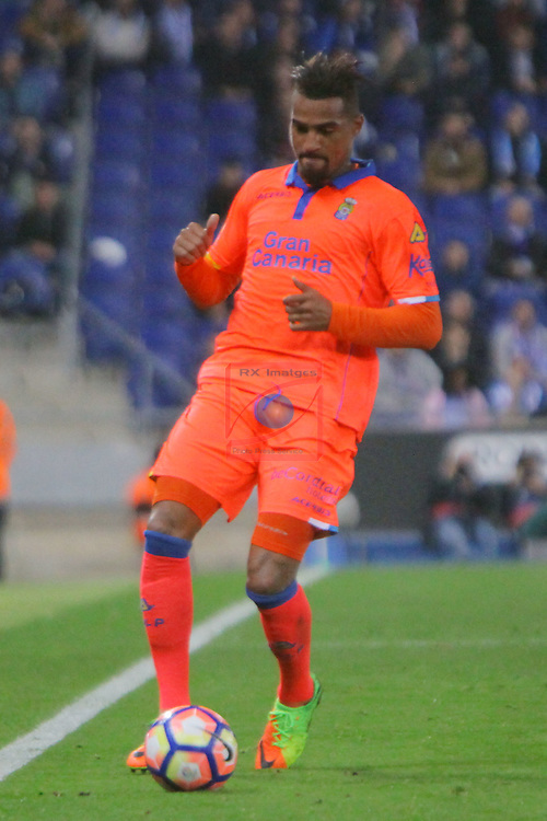 League Santander 2016/2017. Game: 27.<br /> RCD Espanyol vs UD Las Palmas: 4-3.<br /> Boateng.