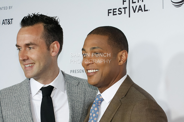 "Don Lemon (right) and partner arrive at the Clive Davis: ""The Soundtrack Of Our Lives"" world premiere for the Opening Night of the 2017 TriBeCa Film Festival on April 19, 2017 at Radio City Music Hall."