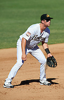 Mesa Solar Sox third baseman Bobby Borchering #53, of the Houston Astros organization, during an Arizona Fall League game against the Peoria Javelinas at HoHoKam Park on October 15, 2012 in Mesa, Arizona.  Peoria defeated Mesa 9-2.  (Mike Janes/Four Seam Images)