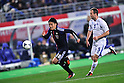 Jungo Fujimoto (JPN), Hjalmar Jonsson (ISL),.FEBRUARY 24, 2012 - Football / Soccer :.Kirin Challenge Cup 2012 match between Japan 3-1 Iceland at Nagai Stadium in Osaka, Japan. (Photo by Jinten Sawada/AFLO)