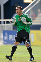 Philadelphia Union goalkeeper Chris Seitz (1). The Philadelphia Union and the New England Revolution  played to a 1-1 tie during a Major League Soccer (MLS) match at PPL Park in Chester, PA, on July 31, 2010.