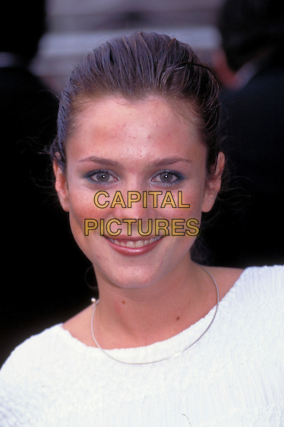 ANNA FRIEL.pre 1997.Ref: 3121.headshot portrait white silver necklace .CAP/HT.©Hugh Thompson/Capital Pictures.