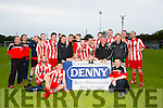 Mastergeeha FC winners of the Denny Premier 'B' League Final Replay at Mounthawk Park on Thursday against Fenit Samphires