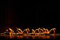 "London, UK. 20/07/2011. Grupo Corpo present ""Ima & Onqoto"" at Sadler's Wells, London. The cast includes: Alberto Venceslau, Andressa Corso, Carolina Amares, Cassilene Abranches, Danielle Pavam, Danielle Ramalho, Edson Hayzer, Elias Bouza, Everson Botelho, Filipe Bruschi, Flavia Couret, Gabriela Junqueira, Grey Araujo, Helbert Pimenta, Janaina Castro, Malu Figueiroa, Mariana do Rosario, Rafaela Fernandes, Silvia Gaspar, Uatila Coutinho, Victor Vargas. Photo credit: Jane Hobson"