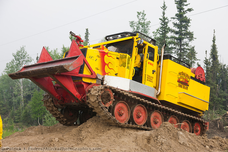 Track vehicle works on the Eagle Trail forest fire near Tok, Alaska, May, 2010.