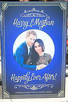 LOS ANGELES - MAY 15: Giant Wedding Card at an event to sign a wedding card as they Kick Off Hollywood's Salute To The Royal Wedding at TCL Chinese Theatre IMAX on May 15, 2018 in Los Angeles, California