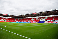 4th July 2020; Bet365 Stadium, Stoke, Staffordshire, England; English Championship Football, Stoke City versus Barnsley; An empty Bet365 stadium awaits the players for the warm up