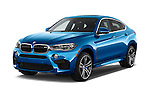 2015 BMW X6 M 4 Door SUV angular front stock photos of front three quarter view