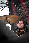 Kings of Leon drummer Nathan Followill  at Discovery Green - Final Four Tour