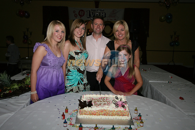 Sarah, Katy Anna, Anthony, Lynn and Rosie Mohan at Lynn 40th in the Boyne Valley Hotel...Photo NEWSFILE/Jenny Matthews.(Photo credit should read Jenny Matthews/NEWSFILE)....This Picture has been sent you under the condtions enclosed by:.Newsfile Ltd..The Studio,.Millmount Abbey,.Drogheda,.Co Meath..Ireland..Tel: +353(0)41-9871240.Fax: +353(0)41-9871260.GSM: +353(0)86-2500958.email: pictures@newsfile.ie.www.newsfile.ie.FTP: 193.120.102.198.