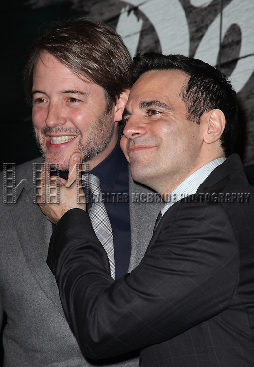 Matthew Broderick & Mario Cantone.attending the Opening Night Performance of 'The Gershwins' Porgy & Bess' at the Richard Rodgers Theatre in New York City. 1/12/2012