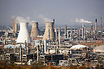 Industrial oil refinery and chemical processing plant.