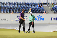 Reinier Saxton (NED) on the 18th during Round 2 of the KLM Open at Kennemer Golf &amp; Country Club on Friday 12th September 2014.<br /> Picture:  Thos Caffrey / www.golffile
