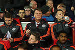 Louis Van Gaal, manager of Manchester United during the UEFA Europa League match at Old Trafford. Photo credit should read: Philip Oldham/Sportimage