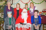 SANTA: Santa Clause who visited the Kilmoyley Community Centre to wish the Kilmoyley Senior Citizen's a happy Christmas at their chriatmas party, Front l-r: Hannah Nolon, Santa, Elizabeth Mccarthy. Back l-r: mary O'Flaherty, Bridie O'carroll, Linda Hickey and Eva Maurer.  ............Abbeydorney V ballyheigue in the County League Final in Abbeydorney on Sunday...