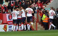 Middlesbrough fans celebrates their first goal during Charlton Athletic vs Middlesbrough, Sky Bet EFL Championship Football at The Valley on 7th March 2020
