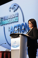 Montreal (QC) CANADA - April 2012 File Photo - IPY (International Polar Year) 2012 conference held at Montreal Convention Centre -  Leona Aglukkaq, Minister of Health and Minister of the Canadian Northern Economic Development Agency, and MP Nunavut