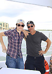 One Life To Live Eddie Alderson poses with Young and Restless Christian LeBlanc at SoapFest's Celebrity Weekend - Cruisin' and Schmoozin' on the Marco Island Princess - mix and mingle and watching dolphins - autographs, photos, live auction raising money for kids on November 11, 2012 Marco Island, Florida. (Photo by Sue Coflin/Max Photos)
