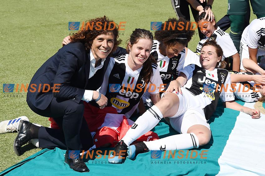 esultanza a fine gara Juventus.  Celebration at the end of the match . Rita Guarino <br /> Verona 20-4-2019 Stadio AGSM Olivieri <br /> Football Women Serie A Hellas Verona - Juventus <br /> Juventus win italian championship <br /> Photo Daniele Buffa / Image Sport / Insidefoto