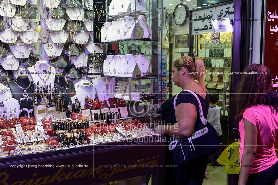 LEBANON, Beirut, armenian quarter Bourj Hammoud, Bajakian Jewellery shop / LIBANON, Beirut, Bourj Hammoud, ein armenisches Viertel, armenisches Juwelier Geschaeft Bajakian Jewellery