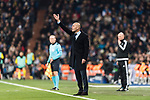 Zinedine Zidane Head Coach of Real Madrid gestures during the Europe Champions League 2017-18 match between Real Madrid and Borussia Dortmund at Santiago Bernabeu Stadium on 06 December 2017 in Madrid Spain. Photo by Diego Gonzalez / Power Sport Images