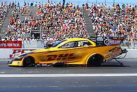 Jun 12, 2016; Englishtown, NJ, USA; NHRA funny car driver Del Worsham during the Summernationals at Old Bridge Township Raceway Park. Mandatory Credit: Mark J. Rebilas-USA TODAY Sports