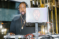 Rapper Biz Markie DJs at the MSNBC After Party at the United States Institute of Peace in Washington, DC. The party followed the annual White House Correspondents Association Dinner on Saturday, April 30, 2016. The party continued until about 3 AM on Sunday, May 1, 2016.