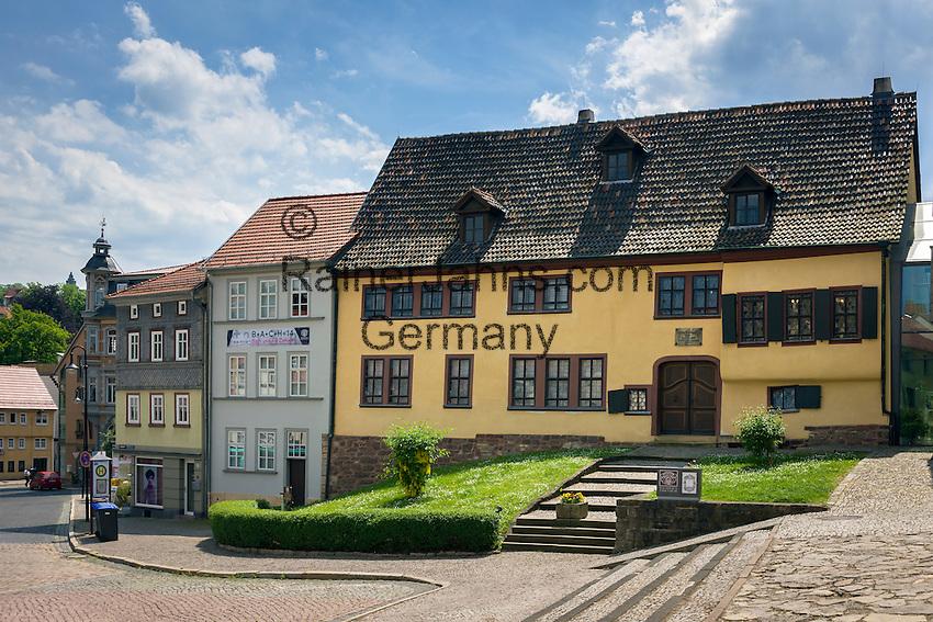 Germany; Free State of Thuringia, Eisenach: the Bach-House, birth place of Johann Sebastian Bach, born at March 31, 1685 | Deutschland, Thueringen, Eisenach: das Bach-Haus, Geburtshaus von Johann Sebastian Bach, geboren am  31. Maerz 1685