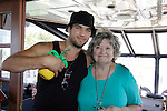 Bryan Craig poses with Pat Berry at 15th Southwest Florida Soapfest 2014 Charity Weekend - at Cruisin' and Schmoozin' on May 25, 2104 aboard the Marco Island Princess (boat), Marco Island, Florida.  (Photo by Sue Coflin/Max Photos)