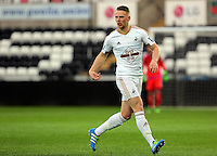 Pictured: Stephen Kingsley of Swansea Monday 04 April 2016<br />Re: Swansea City AFC U21 v Newcastle United FC U21 at the Liberty Stadium, Swansea, UK