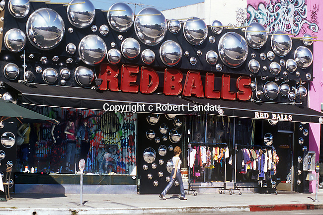 Red Balls on Melrose Ave circa 1980's