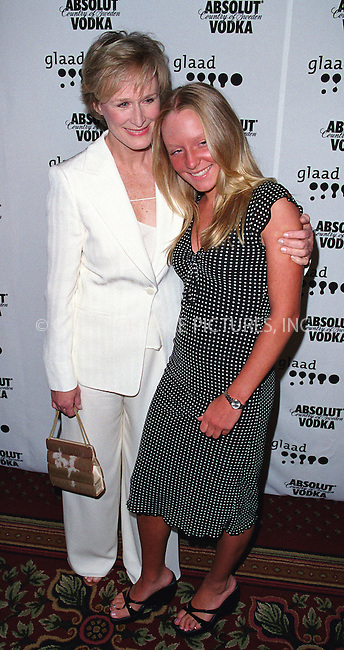 Glenn Close and daughter Annie at the 13th Annual GLAAD Media Awards Dinner at the Marriott Marquis Hotel in New York. April 1, 2002. Please byline: Alecsey Boldeskul/NY Photo Press.   ..*PAY-PER-USE*      ....NY Photo Press:  ..phone (646) 267-6913;   ..e-mail: info@nyphotopress.com