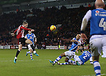 Paul Coutts of Sheffield Utd has his shot blocked during the English League One match at Bramall Lane Stadium, Sheffield. Picture date: November 29th, 2016. Pic Simon Bellis/Sportimage