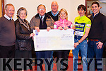 Abbeyfeale Cycling Club presenting a cheque last Thursday night to Pat Dalton representing &quot;Milford Hospice Friends&quot;, the money was raised with a charity cycle  held on St. Stephen's Day. The cycle started in Abbeyfeale and traveled to Knocknagoshel and Duagh.<br /> L-R Dan McCarthy, Bried &amp; Pat Dalton, Edmund O' Donoghue, Maria Woulfe, Mike Cahill &amp; Stevie Daly.