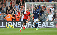 Luton Town's Andrew Shinnie celebrates scoring his side's second goal <br /> <br /> Photographer Rob Newell/CameraSport<br /> <br /> The EFL Sky Bet Championship - Luton Town v Huddersfield Town - Saturday 31 August 2019 - Kenilworth Stadium - Luton<br /> <br /> World Copyright © 2019 CameraSport. All rights reserved. 43 Linden Ave. Countesthorpe. Leicester. England. LE8 5PG - Tel: +44 (0) 116 277 4147 - admin@camerasport.com - www.camerasport.com
