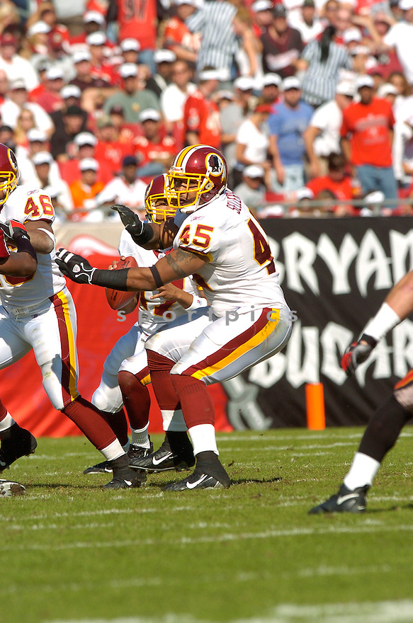 MIKE SELLERS, of the Washington Redskins , in action against  the Tampa Bay Buccaneers on Novmeber 19, 2006 in Tampa Bay, FL...Titans win 20-17..David Durochik/ SportPics