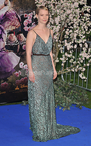 Mia Wasikowska at the &quot;Alice Through The Looking Glass&quot; European film premiere, Odeon Leicester Square cinema, Leicester Square, London, England, UK, on Tuesday 10 May 2016.<br /> CAP/CAN<br /> &copy;CAN/Capital Pictures /MediaPunch ***NORTH AMERICA AND SOUTH AMERICA ONLY***