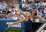 September 2,2018:   Kaia Kanepi (EST) loses to Serena Williams (USA) 6-0, 4-6, 6-3, at the US Open being played at Billy Jean King Ntional Tennis Center in Flushing, Queens, New York.  ©Karla Kinne/Tennisclix/CSM