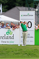 Matteo Manassero (ITA) on the 10th tee during Round 2 of the Irish Open at Fota Island on Friday 20th June 2014.<br /> Picture:  Thos Caffrey / www.golffile.ie