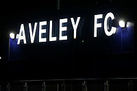 Aveley FC illuminated signage ahead of Romford vs Brentwood Town, BetVictor League North Division Football at Parkside on 11th February 2020